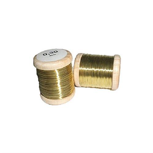 Arame latão, 0,3mm, Oboefagote.com Unidade.(carretel 25m.)
