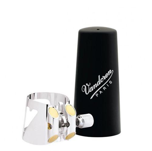 Abraçadeira Vandoren Optimum para Clarinete, com cobreboquilha plástico
