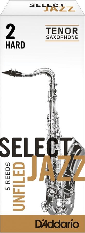 "Palheta 2 Hard ""Select Jazz Unfiled - D'Addario"", Sax Tenor, unid."