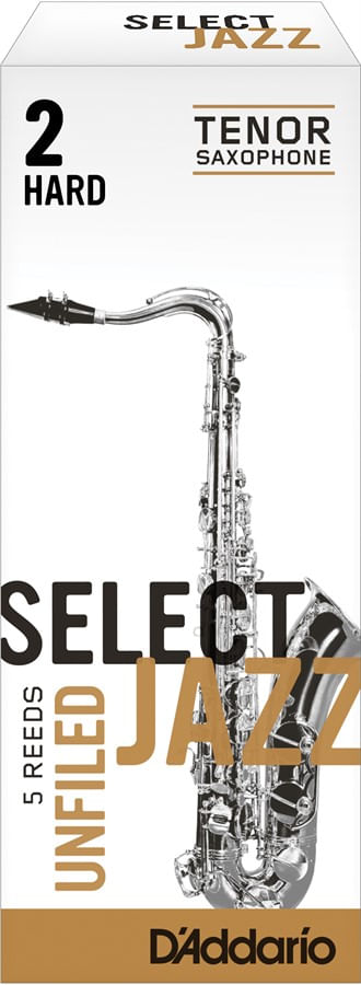 "Palheta 2 Hard ""Select Jazz Unfiled - D'Addario"", Sax Tenor, unid."