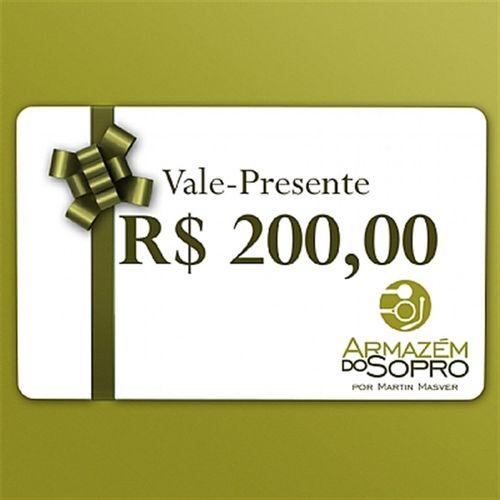 Vale Presente de R$200 reais