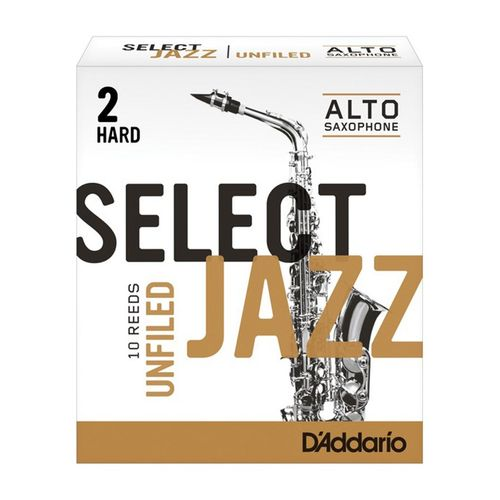 "Palheta 2 Hard, ""Select Jazz Unfiled - D'Addario"", Sax Alto, unid."