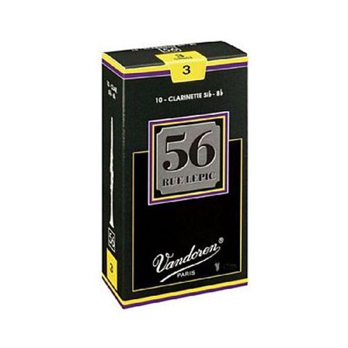 """Palheta 3.0 """"56 Rue Lepic - Vandoren"""", Clarinete Bb, caixa com 10 palhetas"""