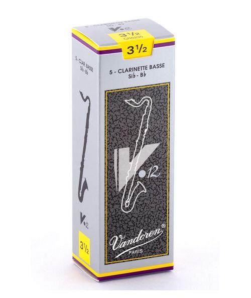"""Palheta 3.5 """"V12 - Vandoren"""", Clarone Baixo, caixa c/ 5"""