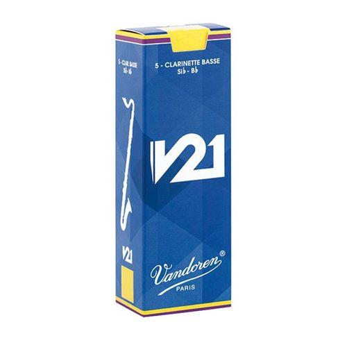 """Palheta 2.5 """"V21 - Vandoren"""", Clarone Baixo, caixa c/5"""