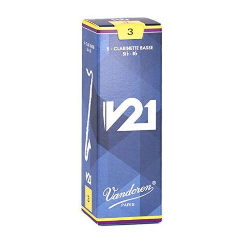 """Palheta 3.0 """"V21 - Vandoren"""", Clarone Baixo, caixa"""