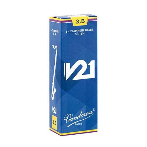 """Palheta 3.5 """"V21 - Vandoren"""", Clarone Baixo, caixa"""