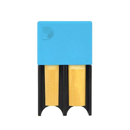 Porta-palheta de Clarinete Bb e Sax Alto D'Addario azul, p/ 4palhetas