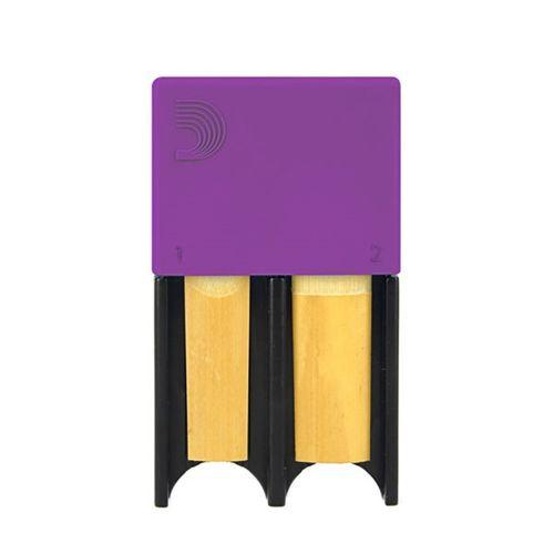 Porta-palheta de Clarinete Bb e Sax Alto D'Addario roxo, p/ 4palhetas