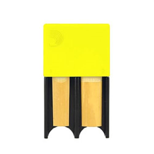 Porta-palheta de Clarinete Bb e Sax Alto D'Addario amarelo, p/ 4palhetas