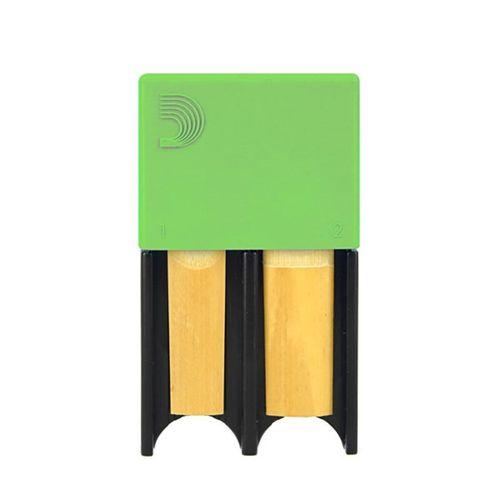 Porta-palheta de Clarinete Bb e Sax Alto D'Addario verde, p/ 4palhetas