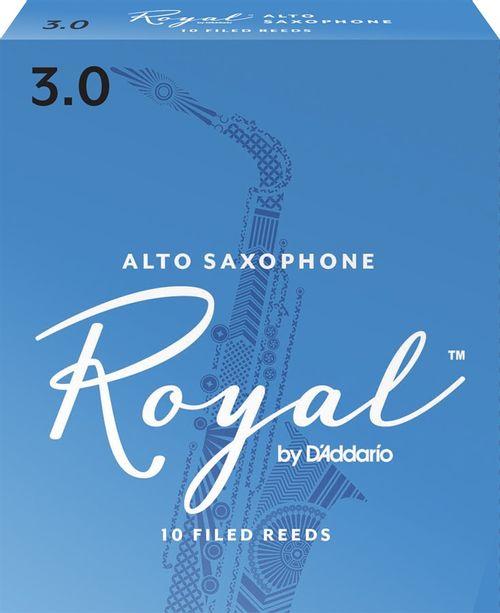 """Palheta 3.0 """"Royal - D'Addario"""", Sax Alto, unid."""