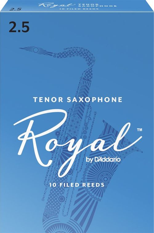 "Palheta 2.5 ""Royal - D'Addario"", Sax Tenor, cx c/10 unid."