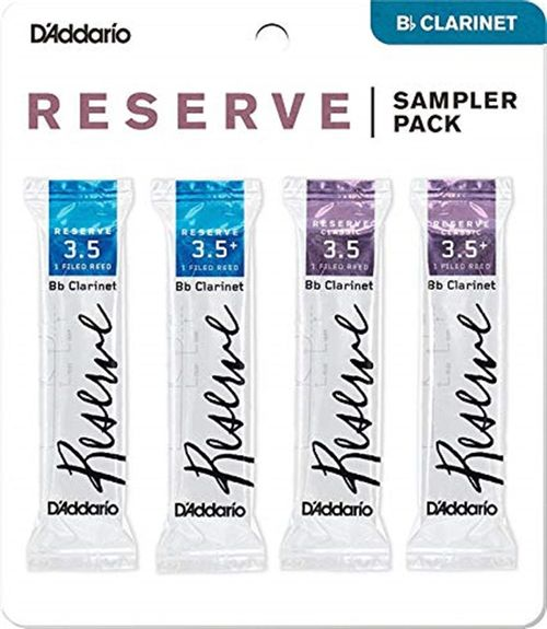 "Palheta 3.5 e 3.5+ ""Reserve & Reserve Classic - D'Addario"", Clarinete Bb, pack"