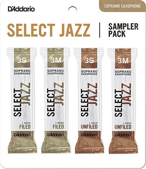 "Palheta 3S e 3M ""Select Jazz Filed & Select Jazz Unfiled - D'Addario"", Sax Soprano, pack"