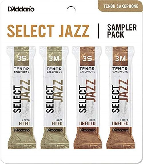 "Palheta 3S e 3M ""Select Jazz Filed & Select Jazz Unfiled - D'Addario"", Sax Tenor, pack"