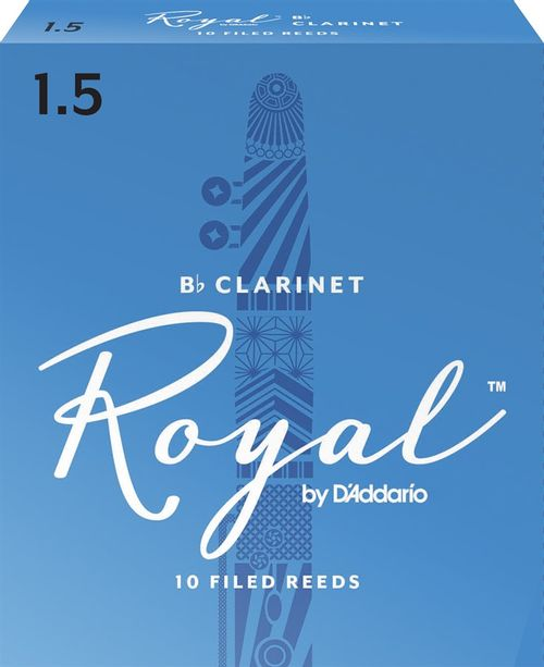 "Palheta 1.5 ""Royal - D'Addario"", Clarinete, caixa c/ 10"