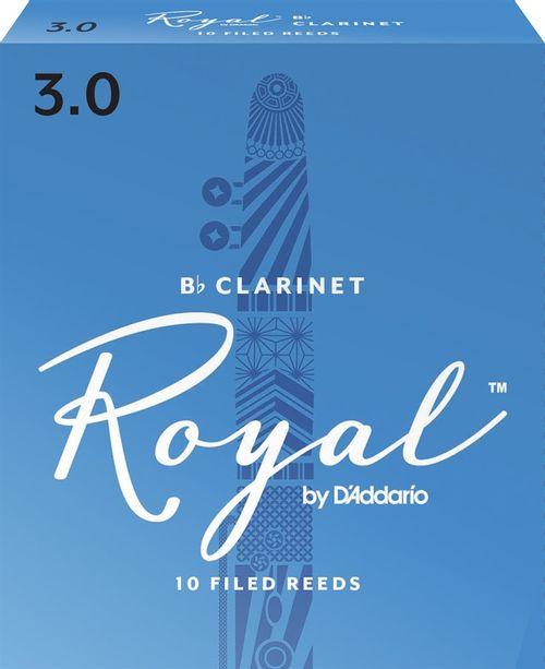 """Palheta 3.0 """"Royal - D'Addario"""", Clarinete, unid."""