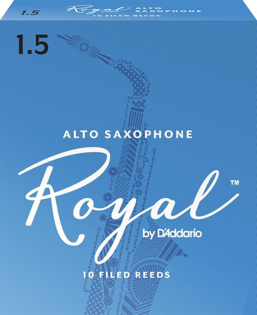 "Palheta 1.5 ""Royal - D'Addario"", Sax Alto, caixa c/10"