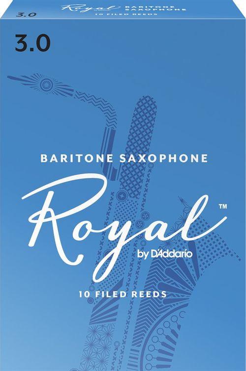 """Palheta 3.0 """"Royal - D'Addario"""", Sax Barítono, cx c/10 unid."""