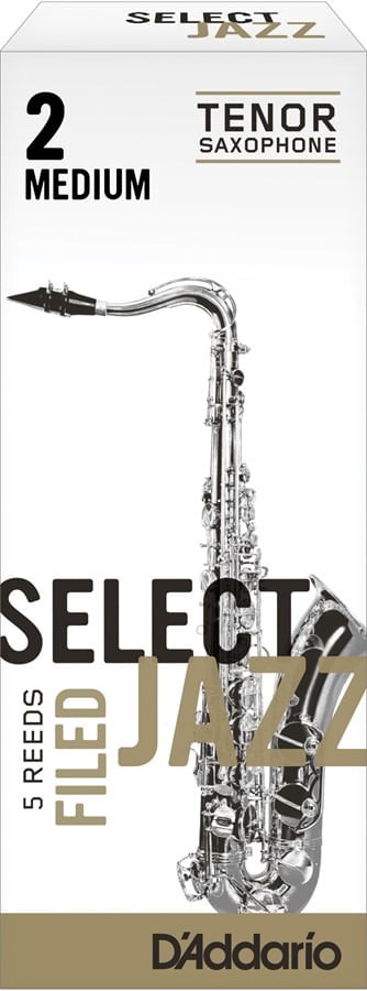 "Palheta 2 Medium, ""Select Jazz Filed - D'Addario"", Sax Tenor, unid."
