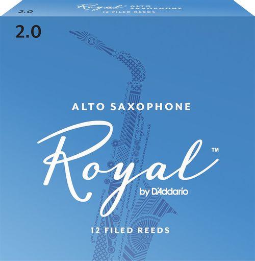 "Palheta 2.0 ""Royal - D'Addario"", Sax Alto, caixa c/12 unid."