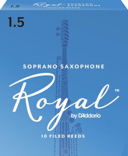 """Palheta 1.5 """"Royal - D'Addario"""", Sax Soprano, cx c/10 unid."""