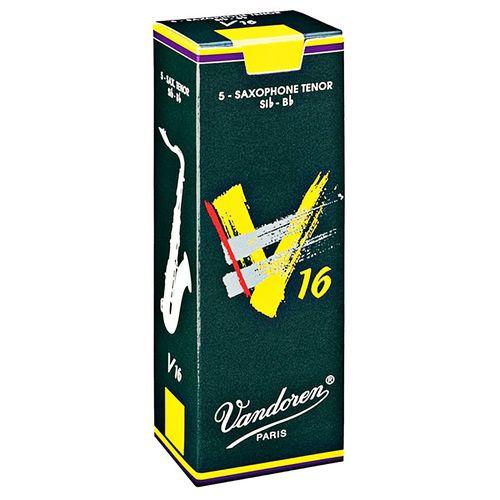 """Palheta 1.5 """"V16 - Vandoren"""", Sax Tenor, caixa c/ 5 unids."""