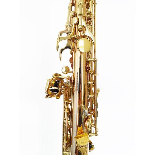 """Sax Soprano """"Yanagisawa"""" mod. S-992, usado, nº série 00332534"""