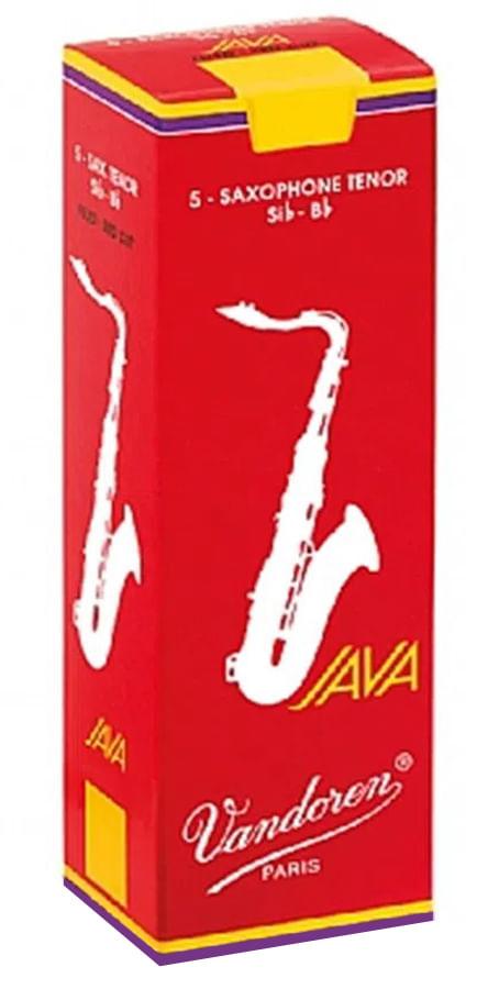 """Palheta 2.0 """"Java Red - Vandoren"""", Sax Tenor, caixa c/ 5"""