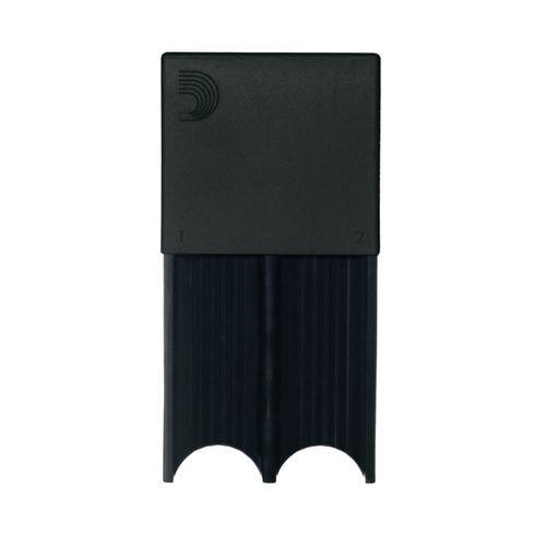 Porta-palheta de Clarone Baixo e Sax Tenor ou Barítono D'Addario preto, p/ 4palhetas