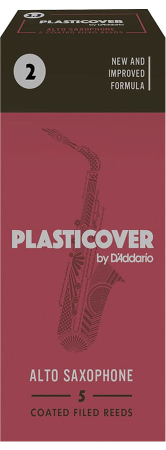 Palheta 2.0 Plasticover - D'Addario, Sax Alto, caixa c/05 unid.