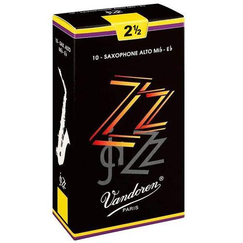 "Palheta 2.5 ""JaZZ - Vandoren"", Sax Alto, cx c/10 unid"