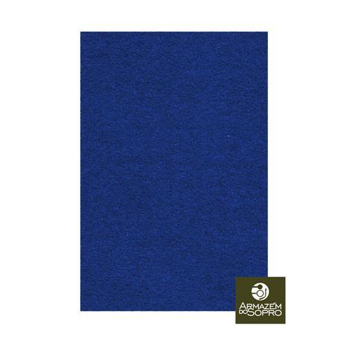 Feltro Prensado, 10x15cm, Esp. 1.5 mm, Pisoni (Azul)