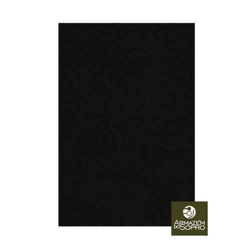 Feltro Prensado, 10x15cm, Esp. 1.0 mm, Pisoni, cor preto
